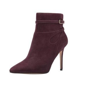 Nine West Brown Tanesha Pointy Toe Suede Boots